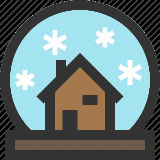 snowdome, snowglobe, water globe, winter icon