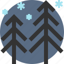 pine, tree, winter, wood icon