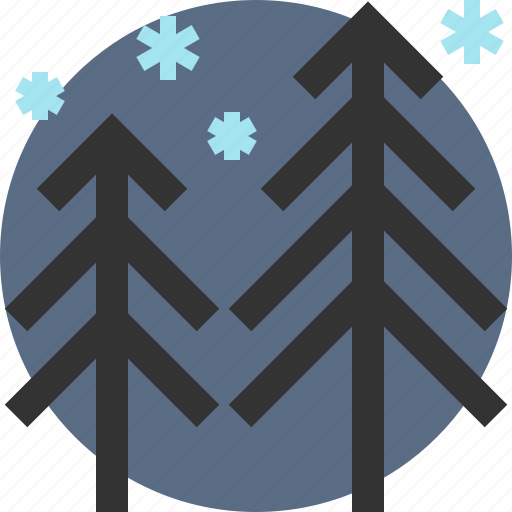 pine, tree, winter, wood icon