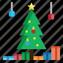 christmas, decoration, lights, tree, xmas icon