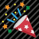 birthday, celebration, confetti, decoration, party icon