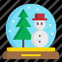 christmas, globe, holiday, snow