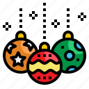 ball, bauble, christmas, decoration, element icon