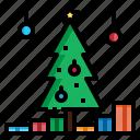 christmas, decoration, lights, tree, xmas