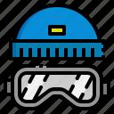 goggles, hat, holiday, ski, winter