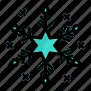 christmas, flake, snow, weather, winter icon