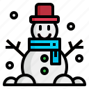 christmas, cold, man, snow, winter icon
