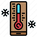 forecast, snow, thermometer, weather, winter icon