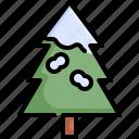 christmas, nature, pine, snow, tree, winter, xmas