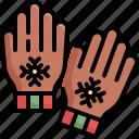 christmas, gloves, santa, snow, winter, xmas