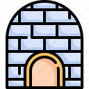 building, construction, eskimo, estate, home, house, igloo icon