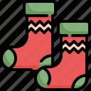 christmas, footwear, santa, socks, winter, xmas
