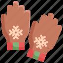 christmas, clothes, fashion, gloves, snow, winter icon