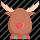 christmas, deer, holiday, reindeer, snow, winter, xmas icon
