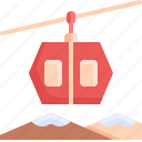 cable, car, snow, transport, transportation, vehicle, winter icon