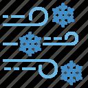 blizzard, cold, snow, weather, wind icon