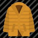 clothing, coat, down, jacket, overcoat icon