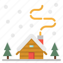 buildings, home, house, snow, winter icon