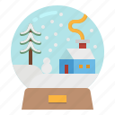 decoration, snow, snowglobe, snowman, tree
