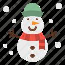 cold, holidays, snow, snowman, winter