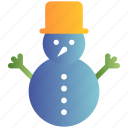 christmas, cold, snowman, winter