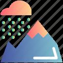 cloud, mountain, nature, rain, snow, winter icon