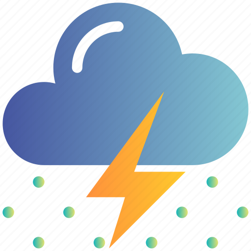 Cloud, cold, rain, snow, thunder, weather, winter icon - Download on Iconfinder