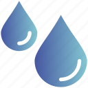 drops, rain, weather, wet, winter icon