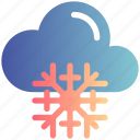 cloud, cold, snow, snowflake, weather, winter
