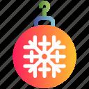 ball, christmas, decoration, ornament, snow