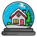 christmas, home, house, winter icon
