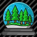 christmas, snow, tree, winter