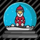 christmas, gift, santa, snow, winter