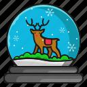 christmas, deer, snow, winter