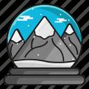 christmas, mountain, snow, winter icon