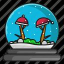 christmas, hat, snow, winter icon