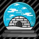 bear house, holiday, snow, winter, xmas icon