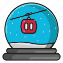 cable car, christmas, holiday, winter icon