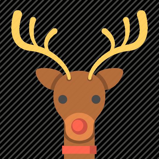 animal, deer, reindeer, rudolph the red nosed reindeer, travel, winter icon