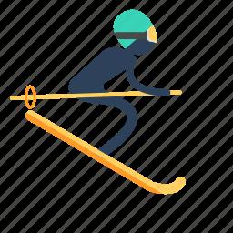 ski, skiboard, skiing, snow blades, snowboarding, travel icon