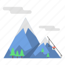 mountain, snow, snow mountain, summit mountain, travel icon