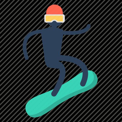 board, snow board, snowboarding, travel icon