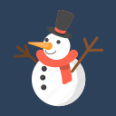 cute snowman, holiday, snow, snowman, winter icon