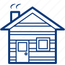 building, cabin, camping, home, house, property, woods icon