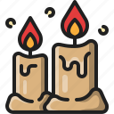 candle, light, fire, wax, decoration, flame, ambience