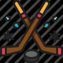 ice, hockey, winter, sport, recreation, puck, stick