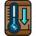 thermometer, low, temperature, tool, cold, decrease, winter
