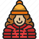 woman, female, avatar, winter, girl, people, person