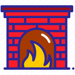 cold, fire, fireplace, hot, warm, winter icon