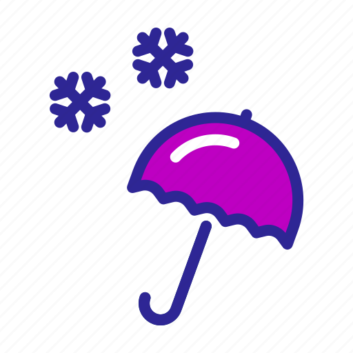 christmas, new year, snow, snowfall, umbrella, weather, winter icon